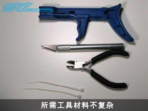 《用扎线带修复网线水晶头锁片》